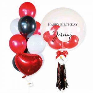 Helium Balloon Combo 2 - Red Black Themes