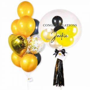 Helium Balloon Combo 2 - Gold Black Themes