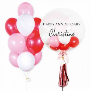 Helium Balloon Combo 2 - Red Pink Themes