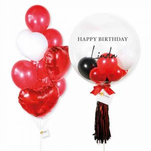 Helium Balloon Combo 2 - Red White Themes