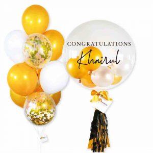 Helium Balloon Combo 2 - Gold White Themes