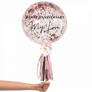 Bubble Balloon - Rose Gold Confetti