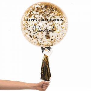Bubble Balloon - Gold Confetti