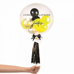 Bubble Balloon - Gold and Black