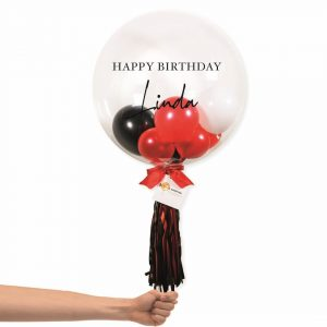 Bubble Balloon - Red and Black