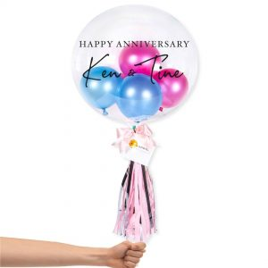 Bubble Balloon - Hot Pink and Blue