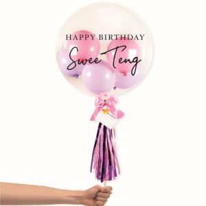 Bubble Balloon - Pink and Purple