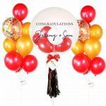 Congratulation Helium Balloon Combo