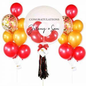 Helium Balloon Combo 3 - Gold Red Themes