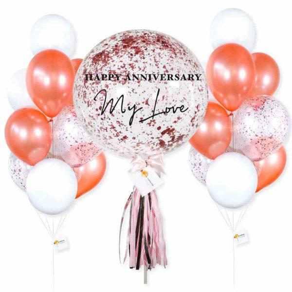 Happy Anniversary Helium Balloon Combo
