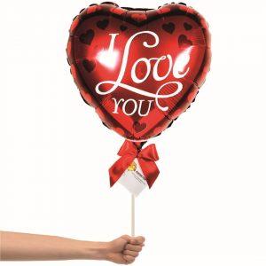I love you hearts balloon