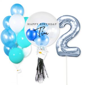 Helium Balloon - Blue Theme Numbering Package